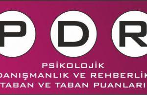 PDR (Psikolojik Danışmanlık ve Rehberlik) Bölümü Taban Puanları ve Başarı Sıralamaları