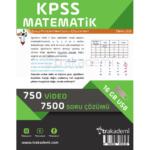 2019 KPSS Matematik Video Eğitim Seti TR Akademi Yayınları